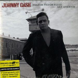 Johnny Cash – Threads + grooves (folsom prison blues)(7inch + XL t-shirt)