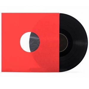 LP inner sleeves red for 12 inch