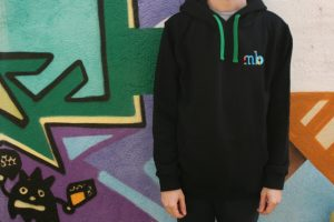 Hoodie Misbits with green cord